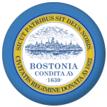 Boston (Massachusetts) Flag 58mm Mirror Keyring